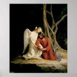 Ángel y Jesús de Carl Bloch Posters
