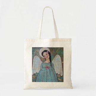 Ángel y la bolsa de asas de la lona de la mariposa