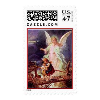 Ángel y los niños por Schutzengel Estampilla