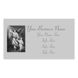 Ángel y niño de guarda tarjetas de visita