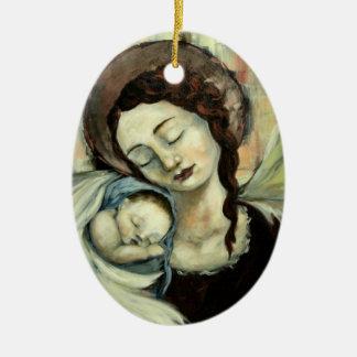 Ángel y niño adorno de navidad