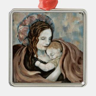 Ángel y niño ornamentos de navidad