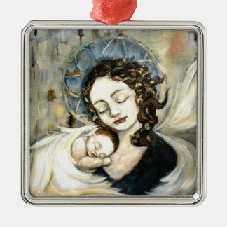 Ángel y niño ornaments para arbol de navidad