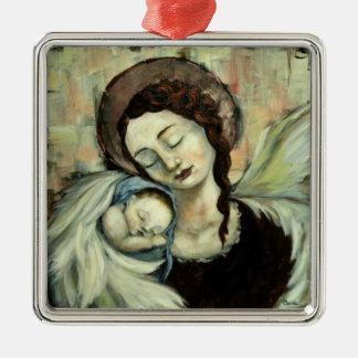 Ángel y niño ornamentos de reyes
