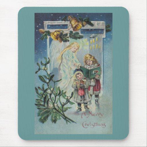 Ángel y niños mouse pads