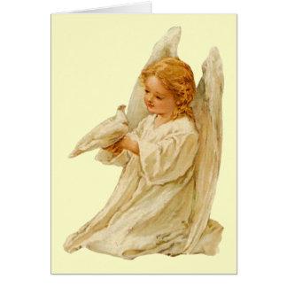 Ángel y paloma - tarjeta de pascua
