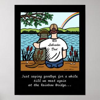 Ángel y papá 1 de Labrador del chocolate Poster