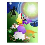Ángel y pastores tarjeta postal