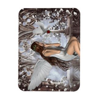Ángel y su paloma iman de vinilo