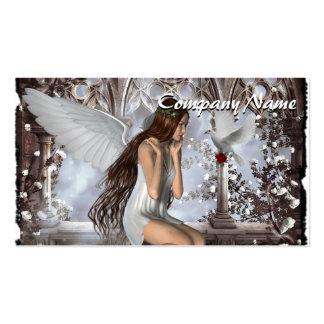 Ángel y su paloma tarjetas de visita