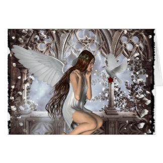 Ángel y su paloma tarjeton