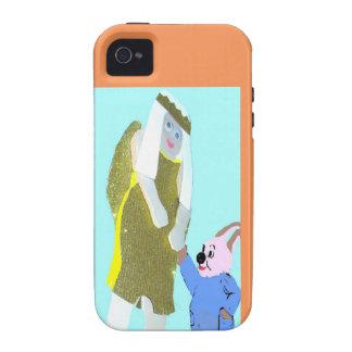 ángel y un pequeño conejo de eBooks Case-Mate iPhone 4 Funda