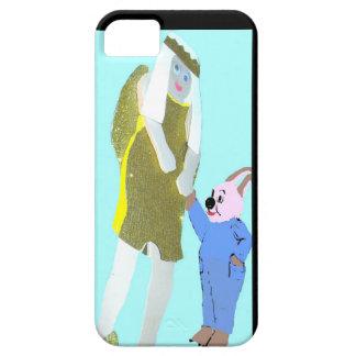 ángel y un pequeño conejo de eBooks iPhone 5 Case-Mate Protectores