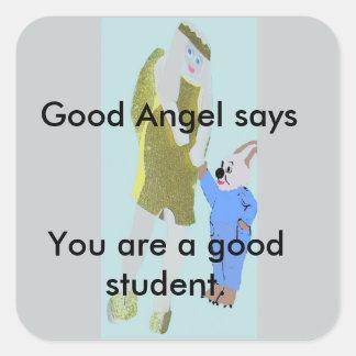 ángel y un pequeño conejo de eBooks Pegatina Cuadrada