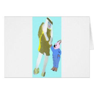 ángel y un pequeño conejo de eBooks Tarjeta De Felicitación