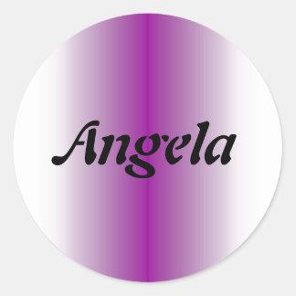 Angela Classic Round Sticker