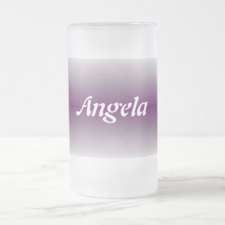 Angela Frosted Glass Beer Mug