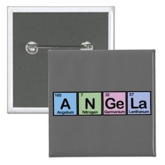 Angela hizo de elementos pin cuadrado