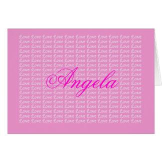 Angela Lavender Endless Love Card