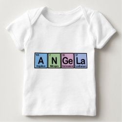 Baby Fine Jersey T-Shirt with Angela made of Elements design