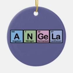 Circle Ornament with Angela made of Elements design