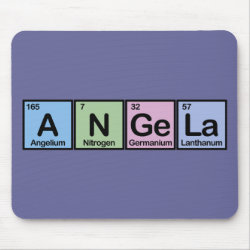 Mousepad with Angela made of Elements design