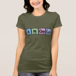 Women's Bella Jersey T-Shirt with Angela made of Elements design