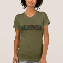 Women's American Apparel Fine Jersey Short Sleeve T-Shirt with Angela made of Elements design