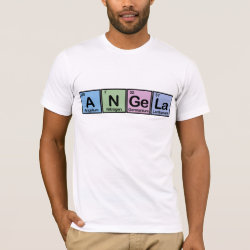 Men's Basic American Apparel T-Shirt with Angela made of Elements design