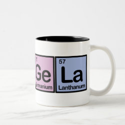 Two-Tone Mug with Angela made of Elements design