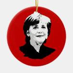 Angela Merkel Adorno Redondo De Cerámica