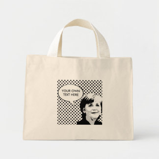 Angela Merkel Bolsa Tela Pequeña