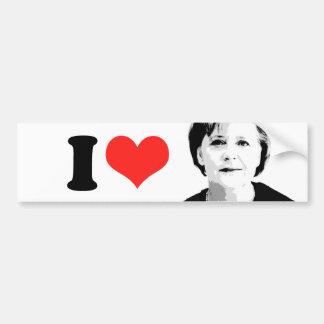 Angela Merkel -- International Leader -.png Car Bumper Sticker