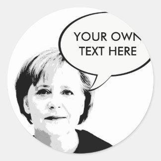 Angela Merkel -- International Leader -.png Classic Round Sticker