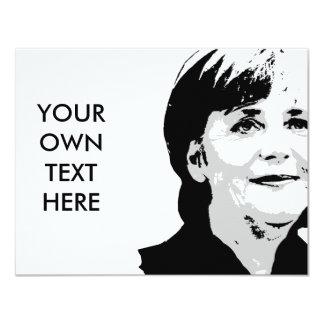 Angela Merkel Invitación 10,8 X 13,9 Cm