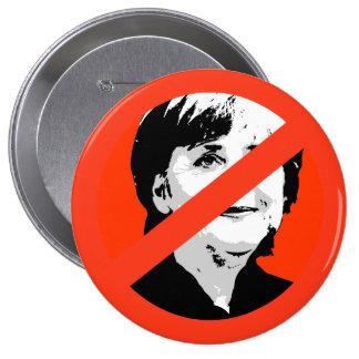 Angela Merkel Pin Redondo De 4 Pulgadas