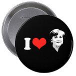 Angela Merkel Pinback Buttons