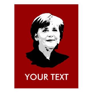 Angela Merkel Postcard