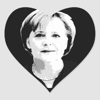 Angela Merkel Heart Sticker