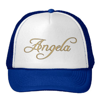 ANGELA Name-Branded Personalised Fashion Cap Trucker Hat