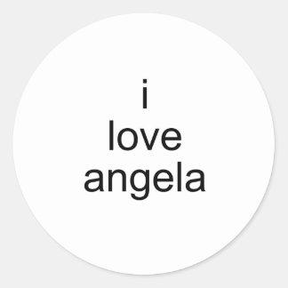 Angela Etiqueta Redonda