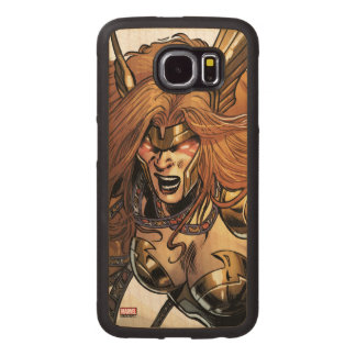 Angela Ready To Fight Wood Phone Case