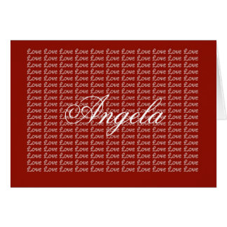 Angela Red Endless Love Card