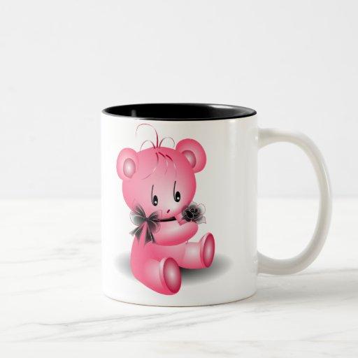 ~AngelArtiste de la taza del oso del peluche de la