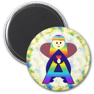Angelbet Letter A 2 Inch Round Magnet