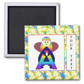 Angelbet Letter A 2 Inch Square Magnet