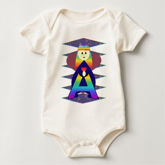 Angelbet Letter A Baby Bodysuit