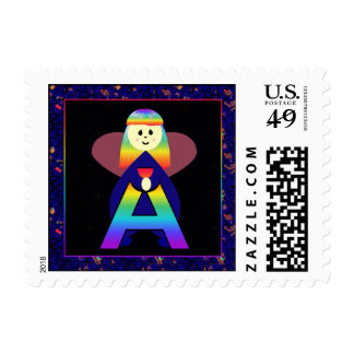 Angelbet Letter A Postage Stamp