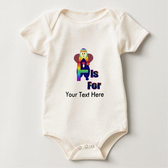 Angelbet Letter F Baby Bodysuit