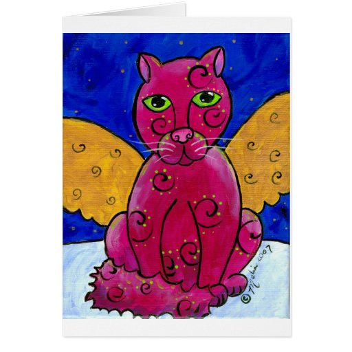 AngelCatPink Greeting Cards